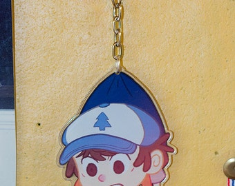 Gravity Falls Dipper Pines Clear Acrylic Keychain