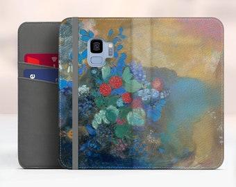 "Odilon Redon ""Ophelia Among the Flowers"" Samsung Galaxy S9 folio case iPhone 7 folio case Galaxy S8 Plus folio Phone cover. WC-ORE-03"