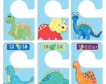 Custom Baby Closet Dividers Dinosaur Nursery Baby Boy Clothes Organizers Baby Shower Gift Baby Boy by Mumsy Goose