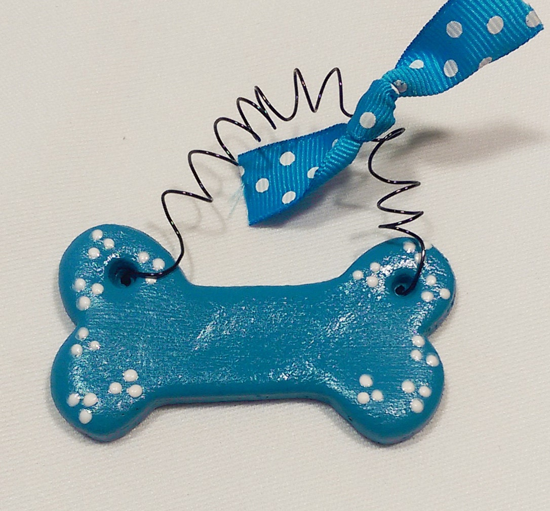 Personalized Dog Ornament Custom Dog Bone Christmas Ornament