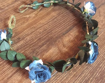 Blue for You Floral Crown