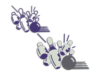 Bowling embroidery design - Machine embroidery design