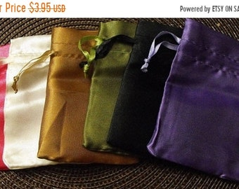 TAX SEASON Stock up 12 Pack Satin Drawstring 2.75X3 Inch Multiple Color Bags Great for Party favors, Sachets, Gift Packaging and more