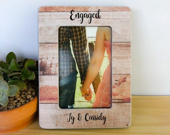 We're Engaged Frame Engagement Gift Proposal Frame Personalized Engagement Frame Engagement Party Gift