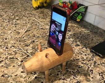 Hand made pig phone charger
