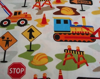 Tot Trucks Dig It Fabric by Michael Miller -1 yard
