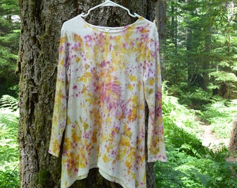 Naturally Dyed Asymmetrical Tunic Top