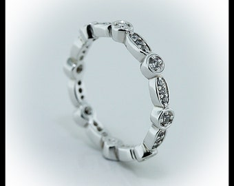 Diamond Eternity Band Anniversary Band or Stacking Ring