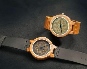 Green Lotus Wood Watch