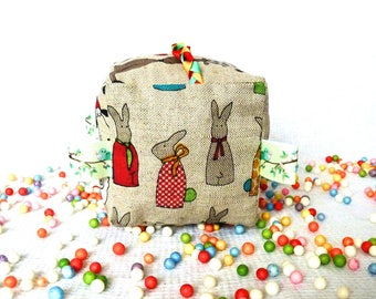 My first easter bunny toy - bunny rabbit toy - waldorf toddler book - cute cats - fabric learning toy - colorful braid - hedgehog