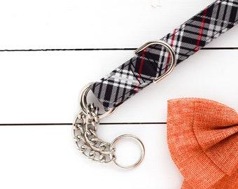 2.0 Christmas Plaid Dog Collar - Dog Collar - Unisex Dog Collar - Festive - Winter - Holiday Season - Christmas - Martingale Chain Collar