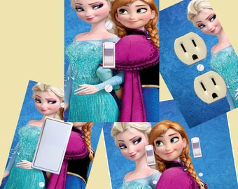 Frozen Elsa and Anna Light switch cover wall plates room decor