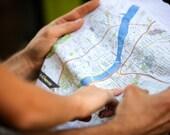 Maps Printed on Kerchiefs...