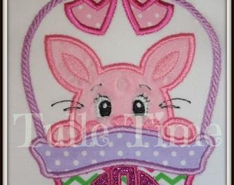 Easter bunny basket pastels bodysuit creeper shirt Monogrammed All sizes