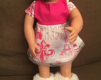 "Doll dress fits 18"" like American Girl dolls"