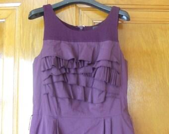 Vtg Free shipping, 90's BCBG Maxazria purple dress, sleeveless purple dress, size 8 dress, vintage purple dress