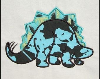 INSTANT DOWNLOAD Stegosaurus Applique and Fill designs