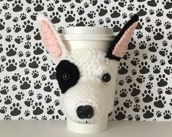 Bull Terrier Gifts, Bull Terrier Mom, Bullterrier, English Bull Terrier, Fur Baby, Dog Lover Gift, Dog Sitter Gift, Dog Mug Cozy, Dog Cozies