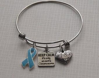 Chromosome Awareness Bracelet-Trisomy Awareness, Trisomy 18, Trisomy 21, Trisomy 13, Advocacy Gift, Compatible with love, Down Syndrome gift