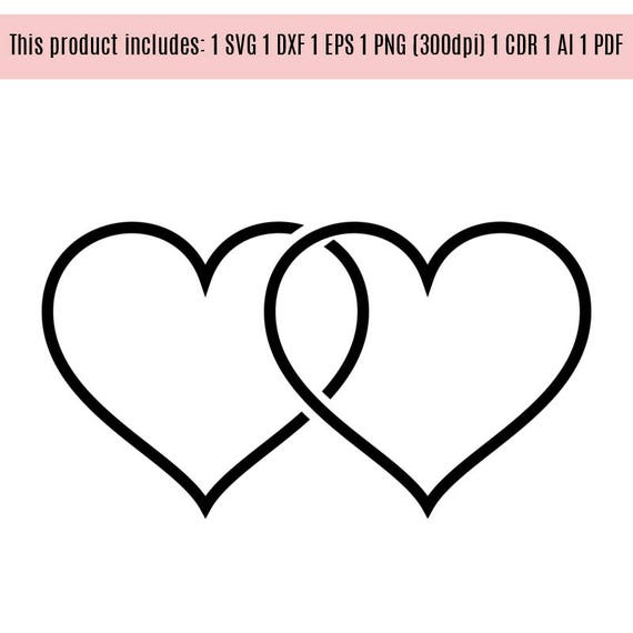 Hearts Love Wedding Vinyl Graphics Svg Dxf Eps Png Cdr Ai Pdf