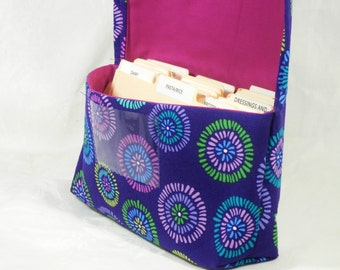 Coupon Organizer Holder Seed Circles Heavy Twill Cotton Fabric