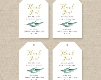 Printable Wedding Tag Template - Favor Tag Template - Gift Tag Template - Greenery Wedding Favor Tag Template - Edit in Word - Chelsea