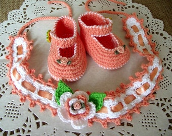 CROCHET PATTERN Baby Set Shoes and Headband Pattern - Ruby Baby Set - crochet shoes baby hairband crochet pdf patterns Instant Download