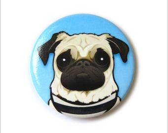 Pug pin badge