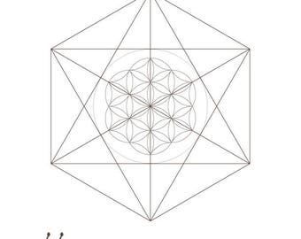 Seed of Life Octahedrons-Sacred Geometry Symbols Print-Coloring Page Printable-Energy Healing-INSTANT DOWNLOAD by @HALELUYA Sacred Soul Art