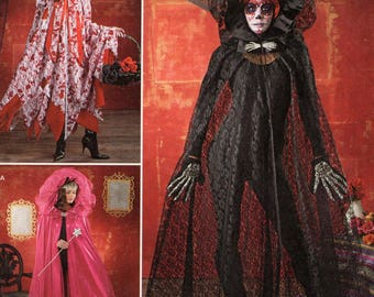 Simplicity 1029 Free Us Ship Sewing Pattern Adult Costume Cape Cloak  Hood Goth Sheer Catsuit Cover uP All Sizes Uncut new
