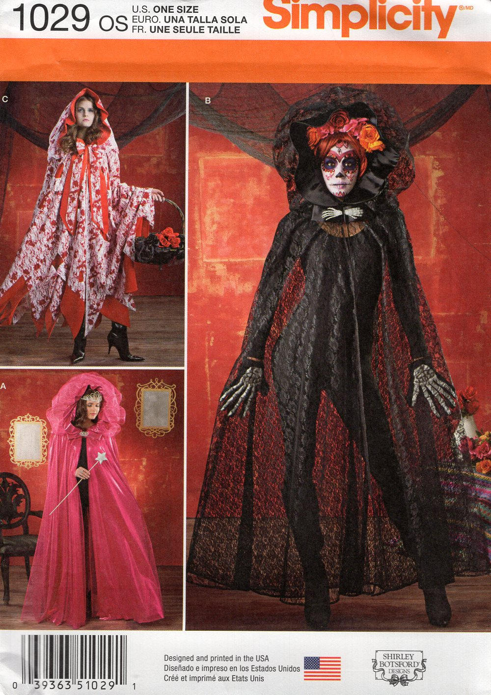 Simplicity 1029 free us ship sewing pattern adult costume cape simplicity 1029 free us ship sewing pattern adult costume cape cloak hood goth sheer catsuit cover up all sizes uncut new jeuxipadfo Image collections