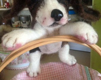 Half-breed in carded wool needle felted