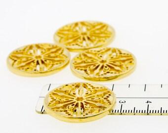 Mandala charm 28 mm Gold plated