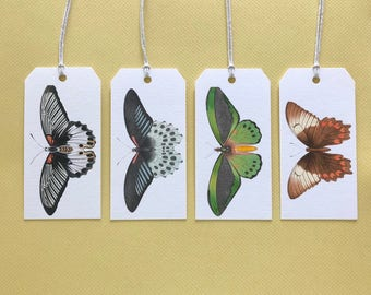 Gift Tags, Tags, Butterfly, Butterflies, Gift Card