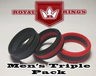Men S Silicone Wedding Rings Double Pack Set 6 Durable