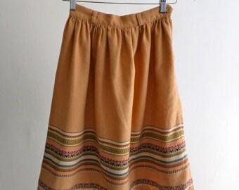 The Vintage Folk Wool Skirt