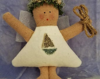Folk Art Sailor's Angel (MiniAngSail)
