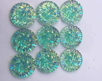 Mint Sparkle Push Pins / Set of Nine Push Pins / Decorative Thumb Tacks / Bulletin Board Push Pins / Cork Board Pins / Housewarming Gift