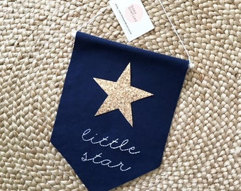 Little Star Wall Hanging - Navy