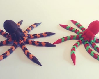 Octopus, 3D Printed, 8 leged fun makers!