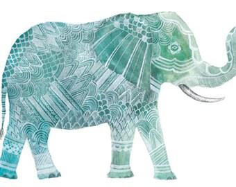 Elephant Art Print 8x10