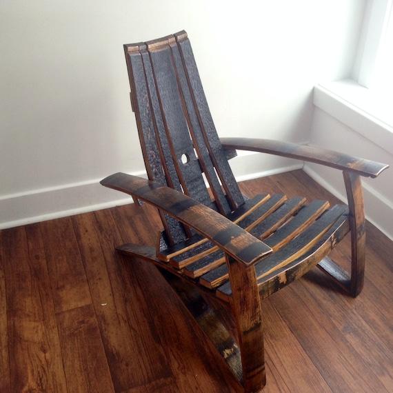 Superbe Bourbon/Whiskey Barrel Adirondack Chair