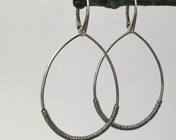 Sterling Silver Coil Hoops