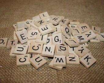 99 Wood Scrabble Tiles - item #1075