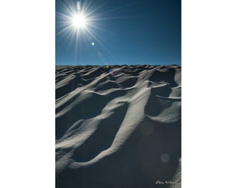 Photograph of Dunes at White Sands National Monument, New Mexico, printed on metal and ready to hang