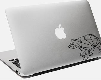 Bear Sticker Origami Decal For Laptop Macbook Apple Origami Geometric Wild Polar Bear Car Sticker For Truck Window Wall Bumper Sticker