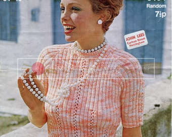Lady's Summer Mini Top DK 34-40ins Sirdar 5404 Vintage Knitting Pattern PDF instant download