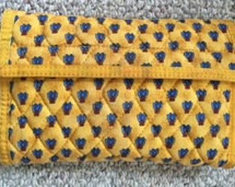Yellow Bumble Bee wallet cotton
