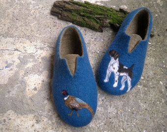 Men wool slippers For him Men felted slippers Men felt clogs Men slippers Men house slippers Dog Organic slippers, Men felt shoes