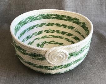 Medium Green Round Basket